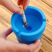 Portable Ashtray Cigarette Holder Car Ash Cup Auto Desk Travel Cylinder Bucket