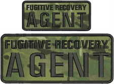 FUGITIVE RECOVERY AGENT EMB PATCH 4C10 AND 2.5X6 HOOK ON BACK MULTIC/BLK