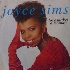 """JOYCE SIMS - Love Makes A Woman - 7"""" Single PS"""