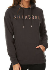 NEW BILLABONG SWELL WOMENS (12) HOODED JUMPER HOODIE FLEECE PULLOVER OFF BLACK
