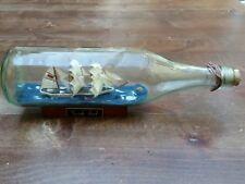 Large Vintage German Flag 3 Mast Ship in Bottle -Gorch Fock-