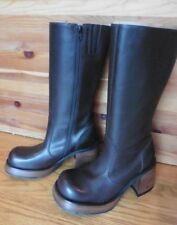 NEW Steve Madden Brown Leather Womens Boots Ray Brazil size 6 mid-calf high heel