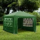 SALE 3x4m Gazebo With Sides Waterproof Outdoor Garden Patio Marquee Canopy Green