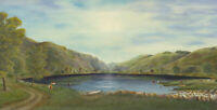 John E. Stephens - 1990 Oil, A View of Talyllyn, North Wales