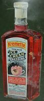 KREMETTE ICE CREAM DRESSING Antique Advertising Sign Chas Shonk Litho Chicago