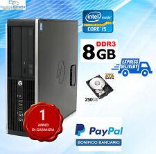 Computer PC DESKTOP FISSO USATO HP 8100 QUAD CORE i5 8 GB ram  250GB  hdd win10