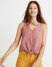 *NWOT MADEWELL TEXTURE & THREAD BUTTON FRONT TIE TANK sz XS
