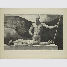 Schneider, Sascha. il trionfo delle tenebre. taglio di legno sul Giappone. 1895