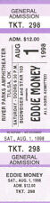 Eddie Money Concert Ticket 1998 Purple