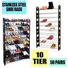 Modern Shoe Rack Stackable Cabinet Storage Holder Organiser 50 Pairs 10 Tiers