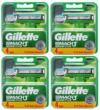 16 Gillette Mach3 Sensitive Rasierklingen Klingen 4x 4er OVP Set Pack = 16 Stück