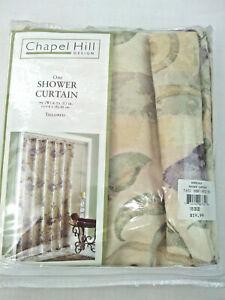 """Chapel Hill Design Bordeaux Fabric Shower Curtain Mauve Plum Beige Color 72×72"""""""