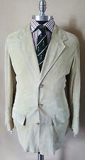 $2895 Giorgio Armani Spring Suede Leather Blazer Jacket Coat Large 40 42 50 Eur