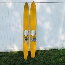 VTG Hydro flite Water Skis salom ski Beach House lake decor yellow retro boat