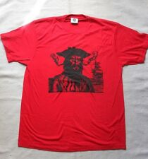 NEW RED PIRATE BLACKBEARD RED TOP L  PIRATE STEAMPUNK T-SHIRT