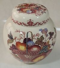 Mason's England Ironstone China Fruit Basket Ginger Jar Excellent