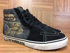 RARE🔥 VANS Sk8-Hi Iron Maiden Piece Of Mind Skateboardig Sz 9 Men's Shoes VNTG