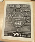 1937 French Ad Print-Bijou Burma Jewelry/Levitan Art Deco Chair Furniture