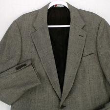 DOHERTY Vtg 70s 80s Gray GLENCHECK PLAID BLAZER SPORT COAT SUIT JACKET 44L