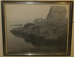 Vintage HARVEY FALK Lauderdale Lake Fishing Shack FLORIDA Pictorialist PHOTO
