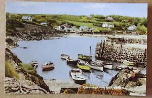 Old Harbour View  Postcard - Coverack  Cornwall