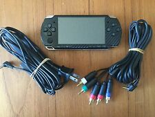 Sony PSP 2001 Slim - Black - Charger & TV Component Cable Included -