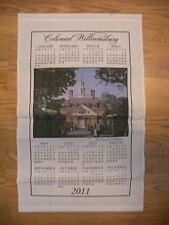 2011 Colonial Williamsburg Calendar Towel - Governors Palace