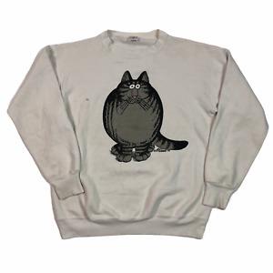 Vintage Sweatshirt White XL Kliban Sumo Cat Crazy Shirts Hawaii USA