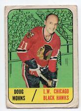 1X DOUG MOHNS 1967 68 Topps #63 G CHICAGO BLACK HAWKS