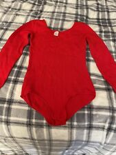 Vintage Red Dance Gymnastics Leotard Adult Small Body Suit Good & Used!