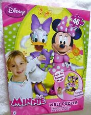 """Minnie Mouse Wall Puzzle 24"""" X 36"""" Wall Safe 46 Piece Puzzle New"""