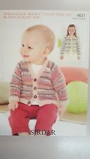 Sirdar Knitting Pattern #4631 Baby & Child's Cardigan in Snuggly Baby Crofter DK