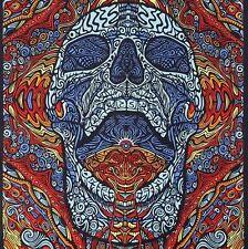 Handmade 100% Cotton 3D Mindful Skull Tapestry Tablecloth Beach Sheet 60x90