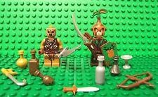 Lego LOTR Hobbit - Mirkwood Elven Sentinel & Orc w/ Custom Accessories Lot NEW