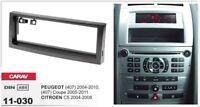 CARAV 11-030 1Din Marco Adaptador Kit de Radio PEUGEOT 407, Coupe, CITROEN C5