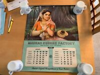Vintage India 1961 Madras Rubber Factory Calendar