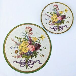 Vintage Springbok Circular Round Puzzle Bouquet of Flowers MOMA 1965 COMPLETE