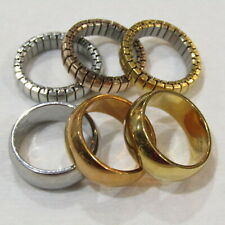 EDFORCE Stainless Steel Ring LOT Gold Copper Silver Colors 6 Band Rings