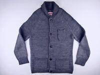 J485 LEVI'S vintage style buttoned heavy knit cardigan sweater size M excellent!