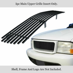 Fits 1998-2003 GMC Jimmy/Sonoma Upper Stainless Black Billet Grille