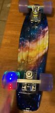 "Geelife 22"" Complete Mini Cruiser Skateboard with Led wheels"