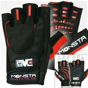 Monsta Clothing Workout Gloves w/ AMAZING GRIP For Bodybuilding, Weightlifting