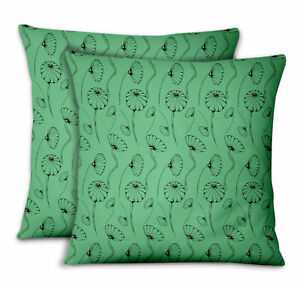 S4Sassy Artistic Home Decor Pillow Printed Fabric Cushion Cover 2Pcs-FL-716A