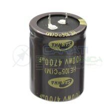 Condensatore elettrolitico 4700uF 4700 uF 100V 105°C SAMWHA SNAP IN 35x45mm