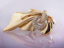 Runde Echtschmuck aus Gelbgold mit Diamant-Hauptstein für Damen