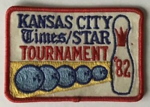 Vintage 1982 Kansas City Times/Star Tournament Bowling Cloth Embroidered Patch
