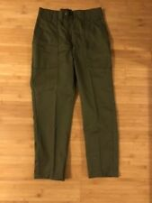 Vintage High Waist Army Pants, 26, Green, Military Trousers
