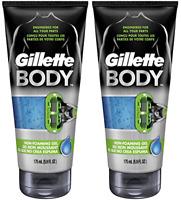 Gillette Body Non Foaming Shave Gel for Men, 5.9 Fluid Ounce (2 Pack)