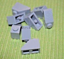 (8) 1x2 Light Gray Standard Slope bricks  ~  Lego  ~ NEW ~