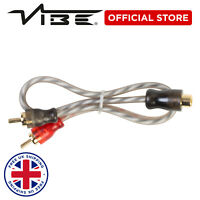 VIBE Critical Link Car Audio Twisted Core 2M to 1F RCA Splitter Cable Wire x2